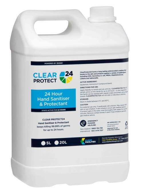 Clear Protect 24 - Hand Sanitiser & Protectant (5L)