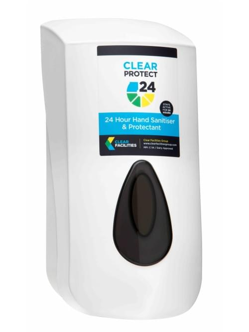 Dispenser - Clear Protect 24 Hand Sanitiser & Protectant (Labelled)