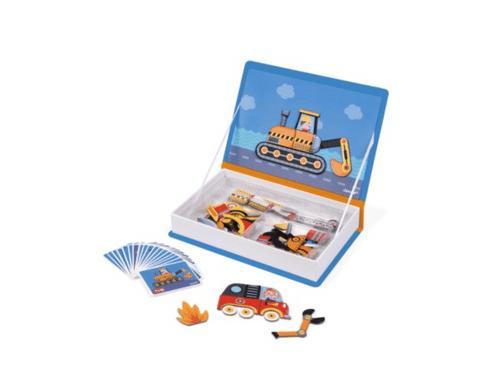 【法國Janod】磁鐵遊戲書-交通工具