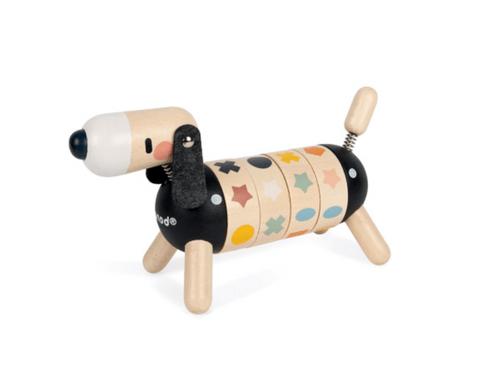 【法國Janod】北歐簡約木玩-轉轉臘腸狗