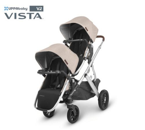 【UPPAbaby】VISTA V2 旗鑑車:推車+折疊座椅(好禮三選二+增高器)