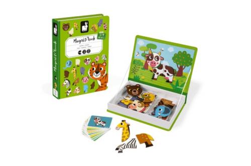 【法國Janod】磁鐵遊戲書-我的動物朋友