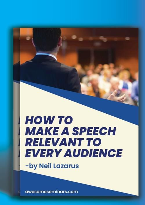 How to Make a Speech Relevant to its audience
