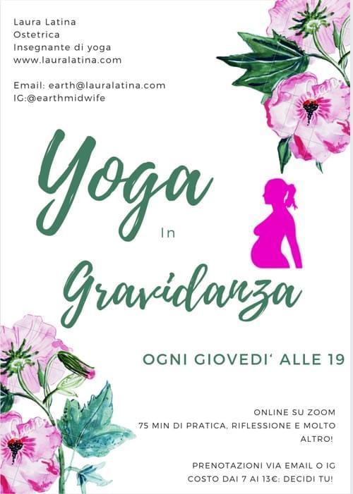Yoga in Gravidanza, ogni Giovedi' alle 19 su zoom