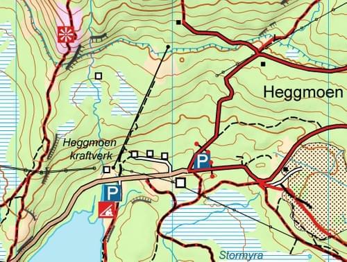 Idyllisk turkart Heggmotinden A4