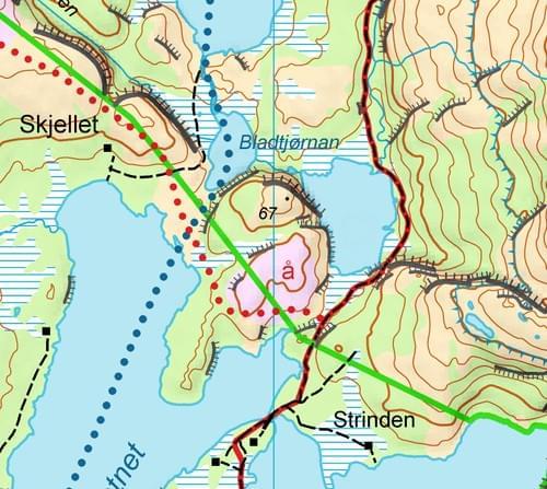 Idyllisk turkart Sørfjorden A4