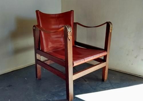 Fauteuil safari des années 60