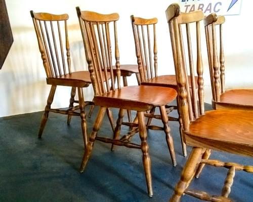 Set de 6 chaises bistrot Baumann