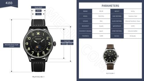 MEGIR Men Quartz Watch ML4193G