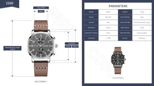 MEGIR Men Quartz Watch ML2160G