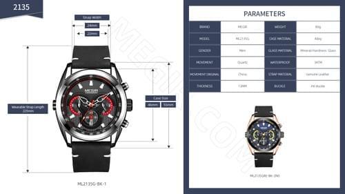 MEGIR Men Quartz Watch ML2135G