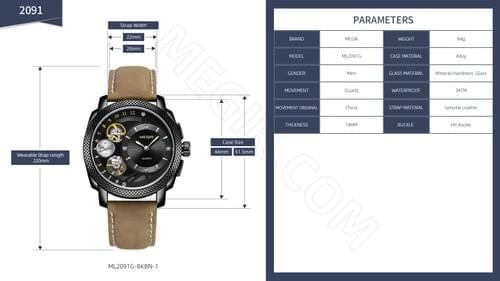 MEGIR Men Quartz Watch 2091