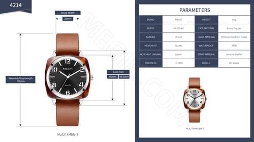 MEGIR Unisex Quartz Watch 4214
