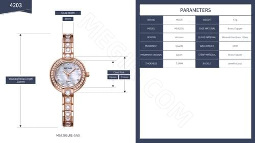 MEGIR Women Quartz Watch 4203