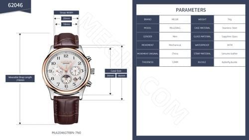 MEGIR Men Automatic Mechanical Watch ML62046G