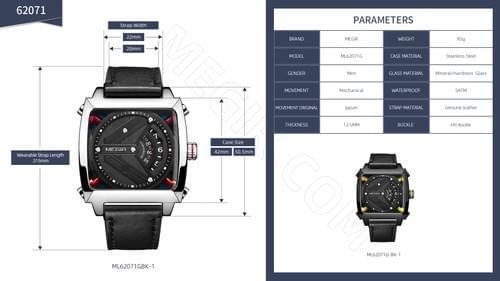MEGIR Men Automatic Mechanical Watch ML62071G