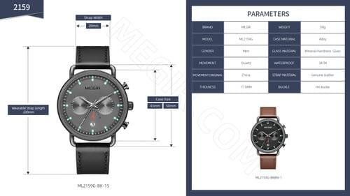 MEGIR Men Quartz Watch ML2159G