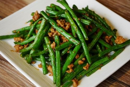Stir Fry French Beans with Dried Shrimps