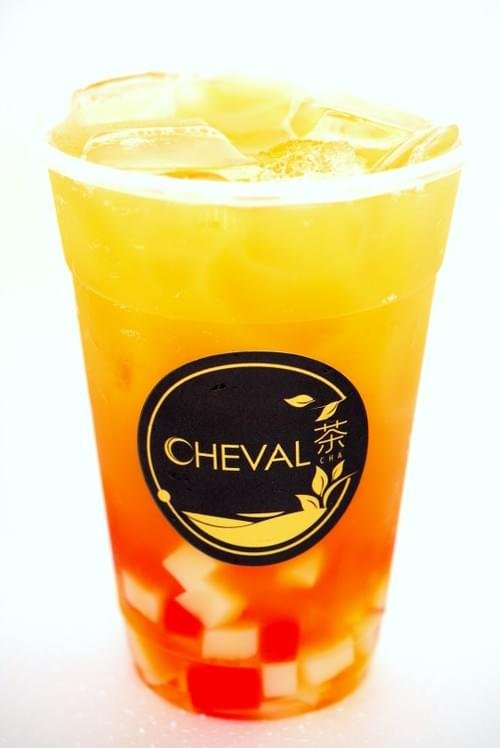 Golden Oolong Tea w/ Colourful Jelly