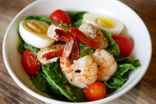 Caesar Salad with Grilled Prawn