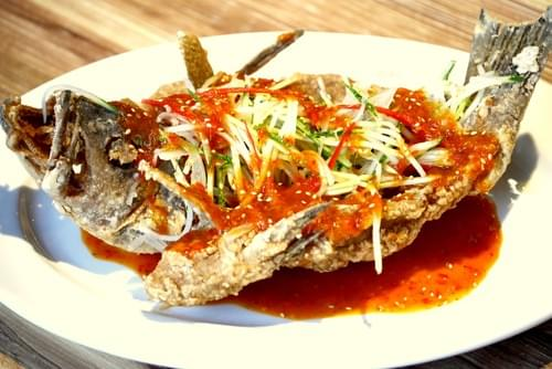 Deep Fried Fish with Chef's Special Thai Chili