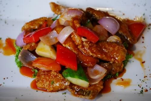 Sweet & Sour Fried Sliced Fish