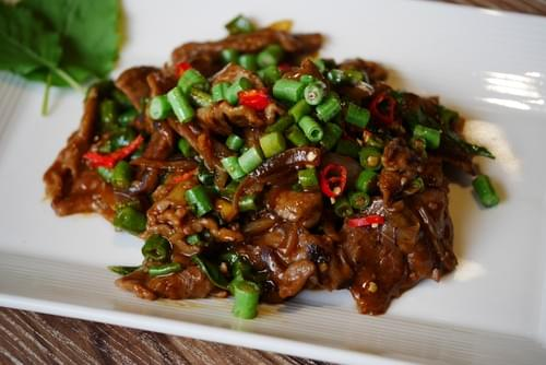 Thai Basil with Sliced Beef