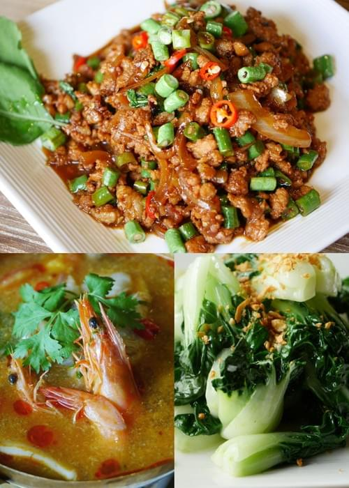 Couple Set A ( Thai Basil Minced Meat)