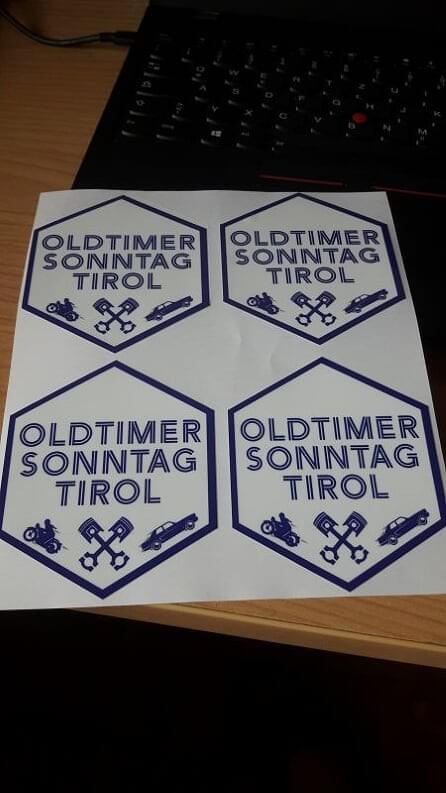 HQ Aufkleber - OLDTIMER SONNTAG TIROL *4 (1 Gratis)