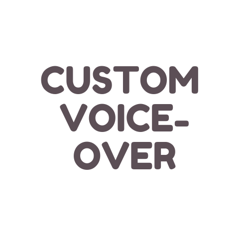 Get a custom voice-over specifically for your project (animations, commercials, promos, videos, etc)