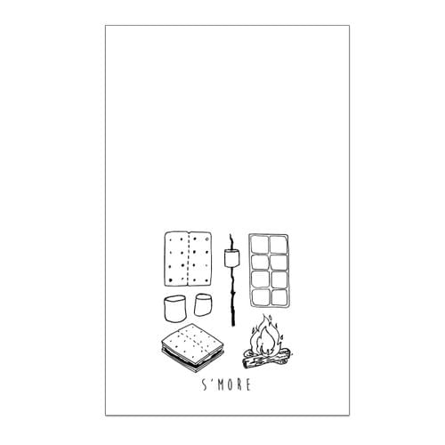 S'more Taxonomy Tea Towel