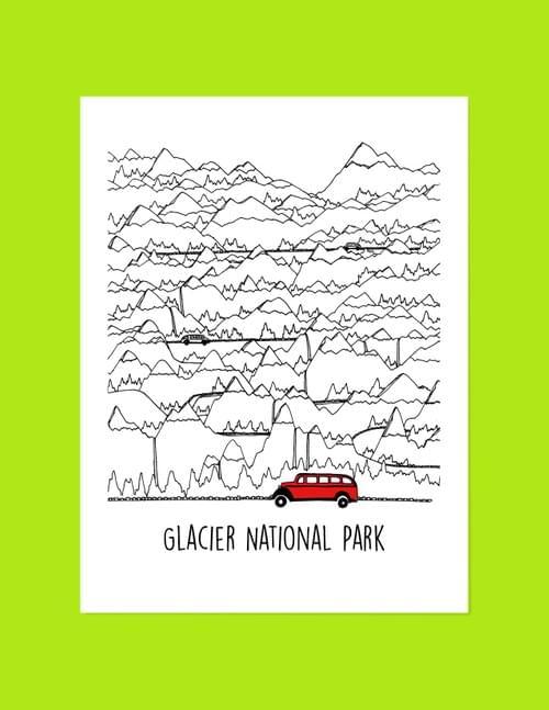 Jammer & Mountains Sticker