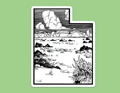 Utah Desert Sticker