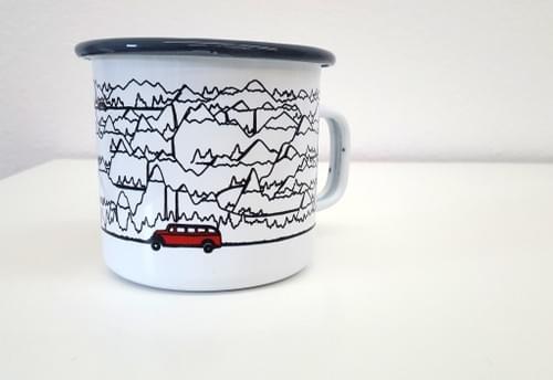 Jammer & Mountains Enamel Mug