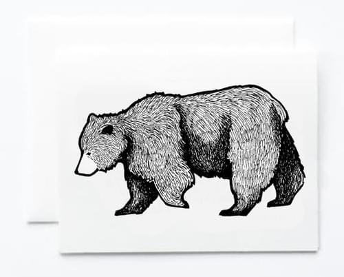 Bear Note Card