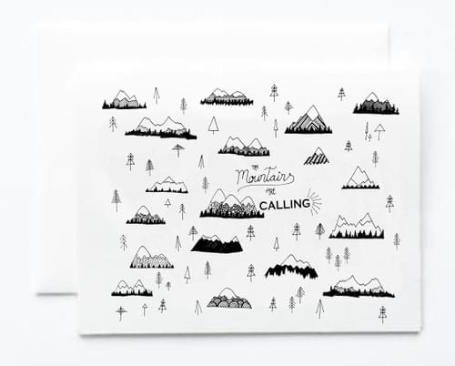Mountains are Calling Note Card