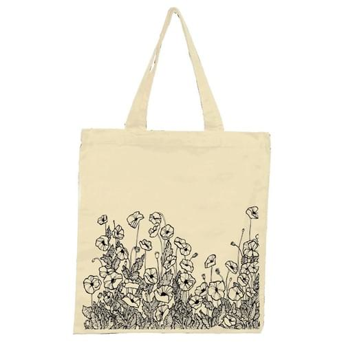 Poppy Patch Tote Bag