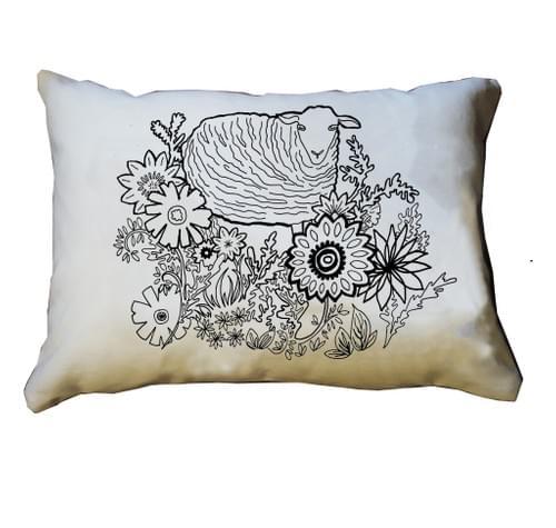 Flower Sheep Pillow