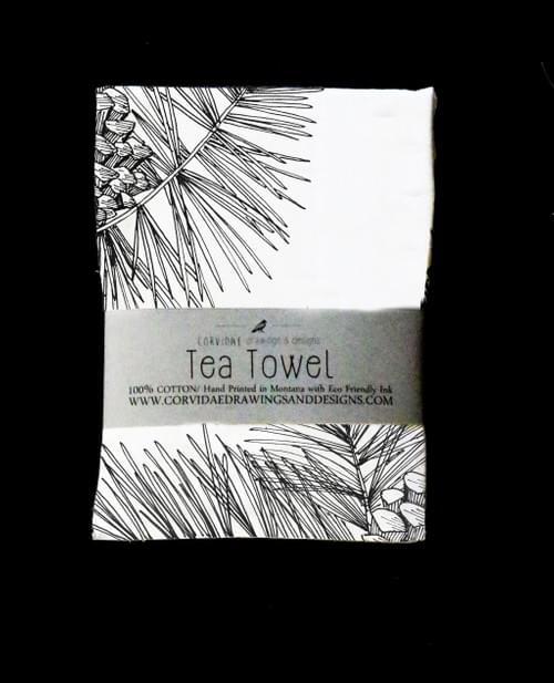 Pinecone Tea Towel