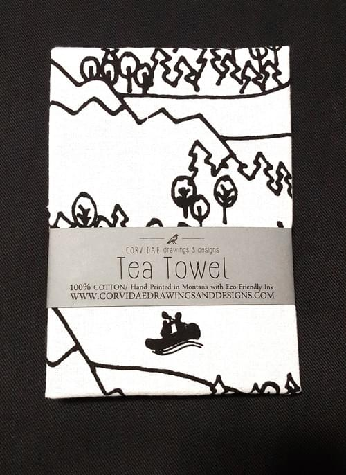 River Boat Tea Towel
