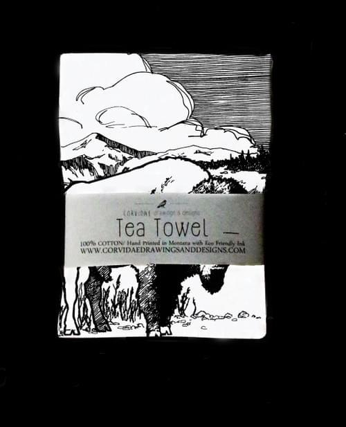 Wyoming Tea Towel