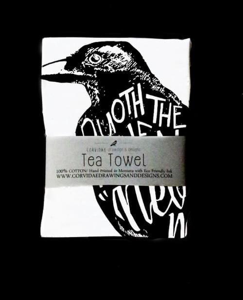 Quoth the Raven Tea Towel