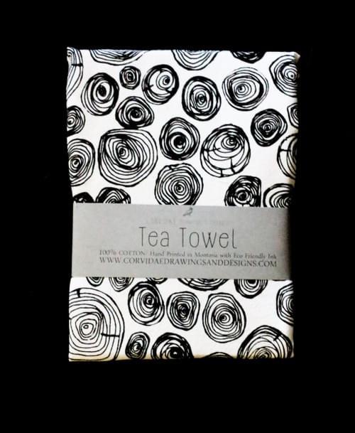 Tree Ring Tea Towel