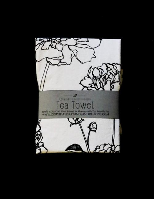 Peony Tea Towel