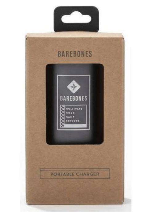Powerbank of chargeble oplader, handig voor het opladen van je mobiel of voor de Barebones lampjes.