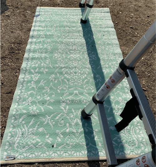 Vloerkleed, mint groen 90x180 cm