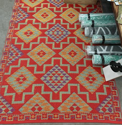 Vloerkleed, lekker rood 180x120 cm