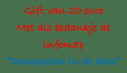 Gift €20 met infomap DS