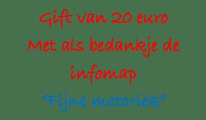 Gift €20 met infomap FM