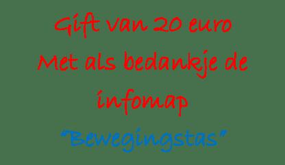 Gift €20 met infomap BT